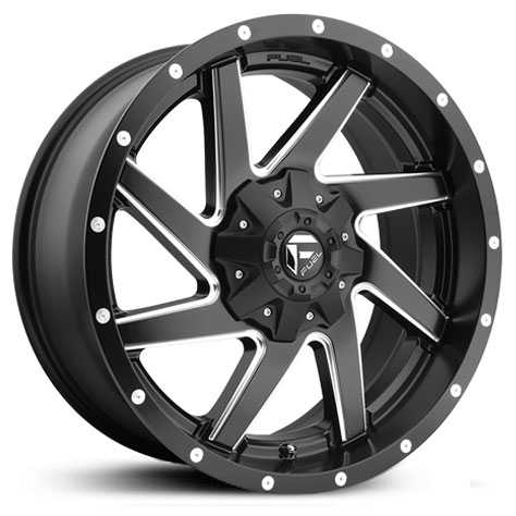 Fuel D594 Renegade  Wheels Black & Milled
