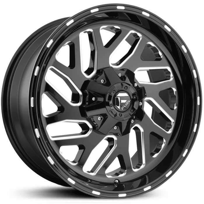 Fuel D581 Triton  Wheels Gloss Black & Milled