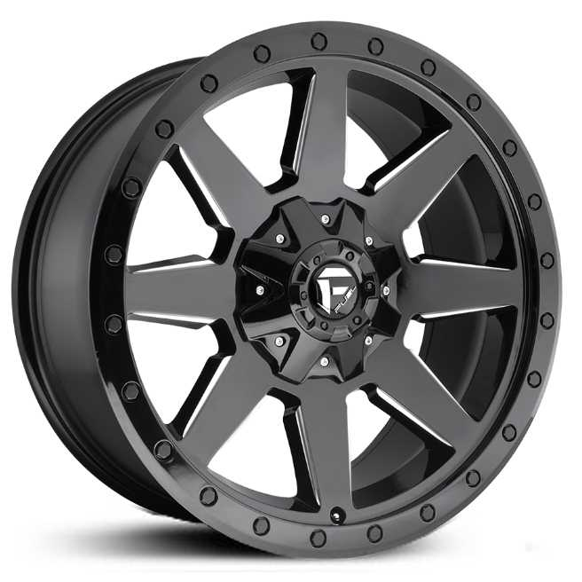 Fuel D597 Wildcat  Wheels Gloss Black & Milled