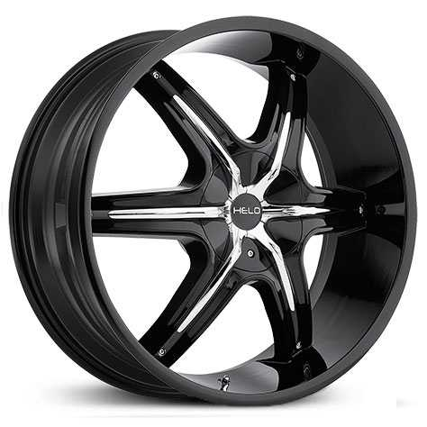 Helo HE891  Wheels Black w/ Chrome Accents