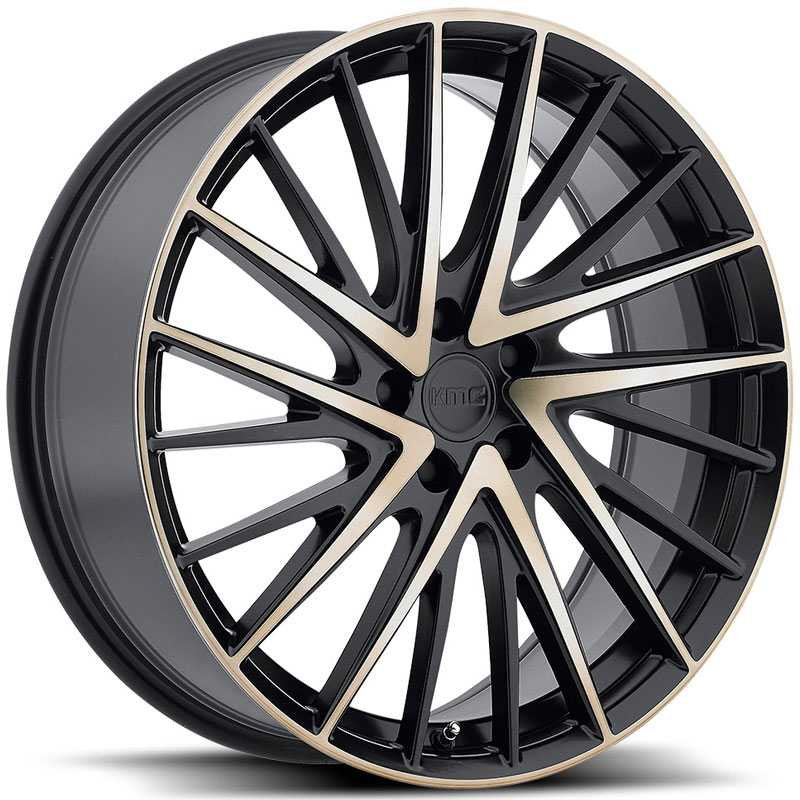 KMC KM697 Newton  Wheels Satin Black Machined Face & Tinted Clear