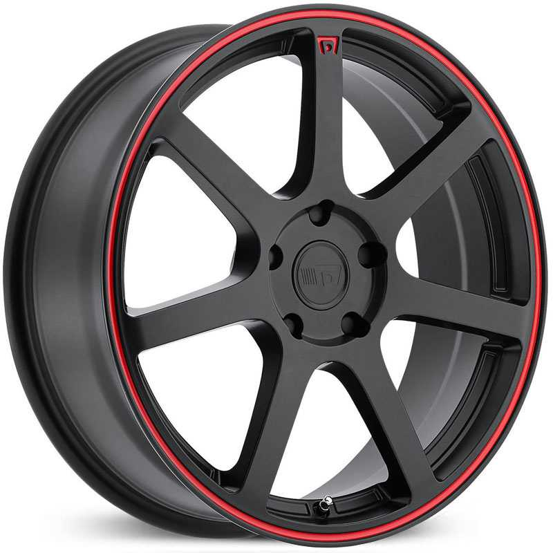 Motegi Racing MR132  Wheels Matte Black w/ Red Stripe