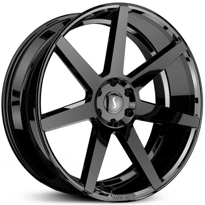 22x9.5 Status Alloy S838 Journey Gloss Black MID