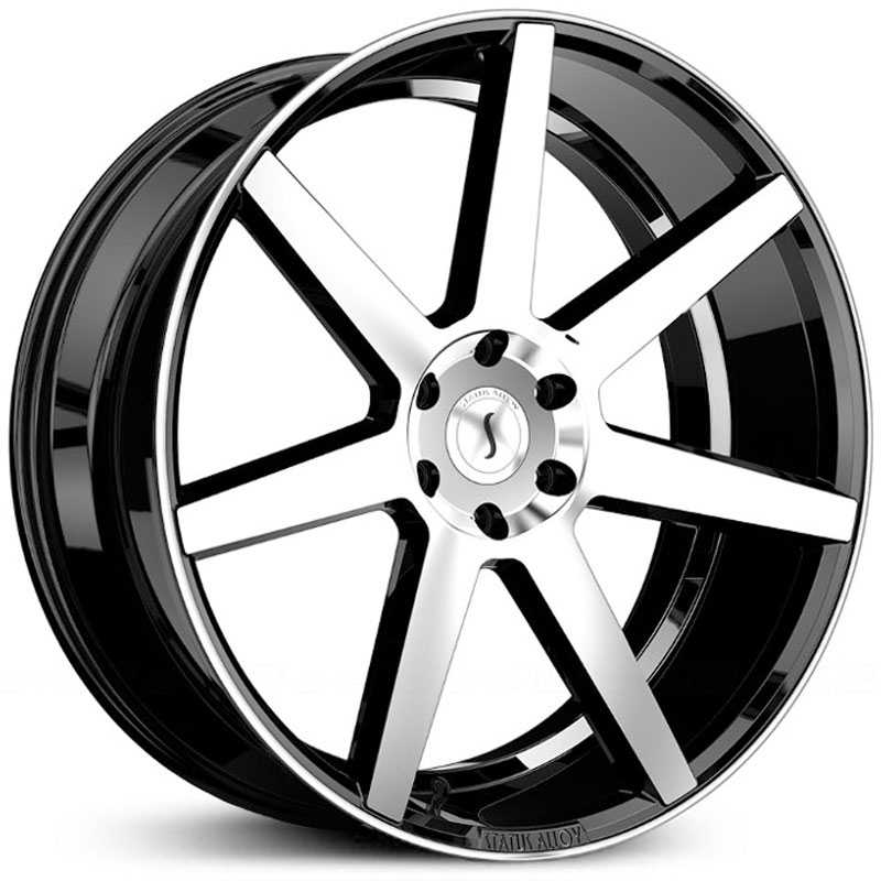 24x10 Status Alloy S838 Journey Gloss Black Machined MID