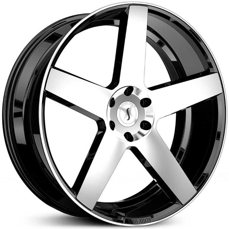 24x9.5 Status Alloy S839 Empire Gloss Black Machined MID