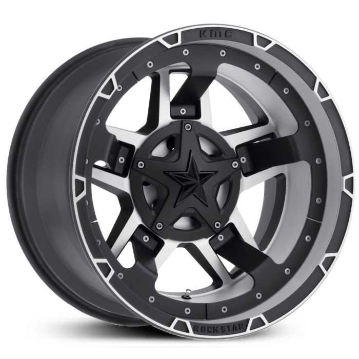 XD827 Rockstar 3 Black Machined Midspoke Insert