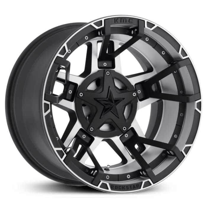 XD827 Rockstar 3 Black Machined Split Spoke Insert
