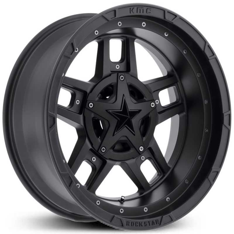 XD Series XD827 Rockstar 3  Wheels Matte Black