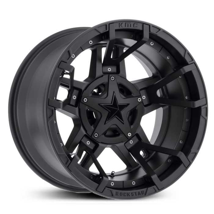 XD827 Rockstar 3 Matte Black Split Spoke Insert