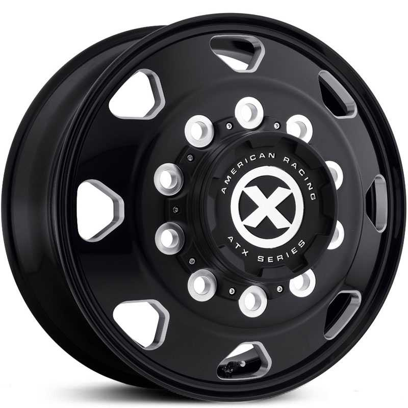 ATX Semi OTR AO401 Octane - Semi 18 Wheeler  Wheels Satin Black Milled - Front