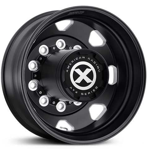 ATX Semi OTR AO401 Octane - Semi 18 Wheeler  Wheels Satin Black Milled - Inner Rear