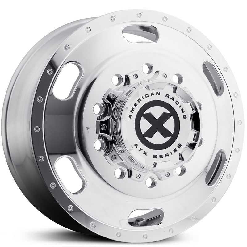 ATX Semi OTR AO402 Indy - Semi 18 Wheeler  Wheels Polished - Front
