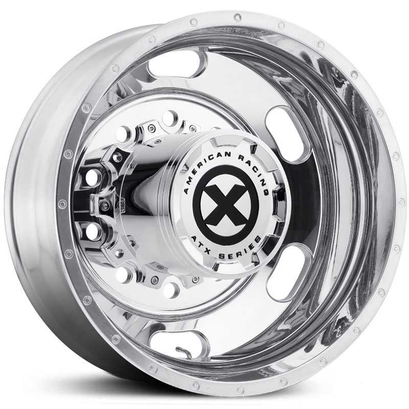 ATX Semi OTR AO402 Indy - Semi 18 Wheeler  Wheels Polished - Inner Rear