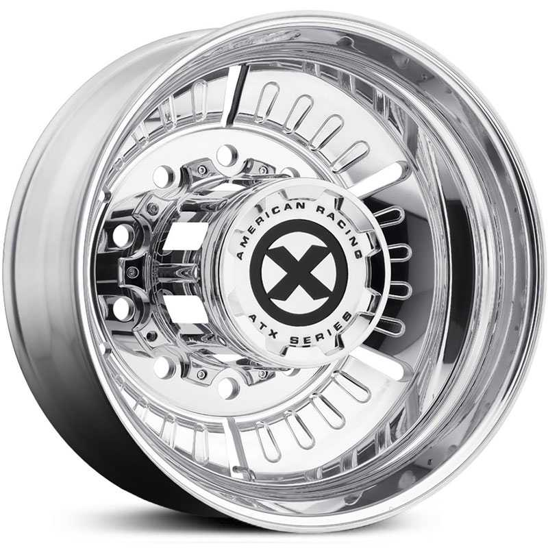 ATX Semi OTR AO403 Roulette - Semi 18 Wheeler  Wheels Polished - Inner Rear