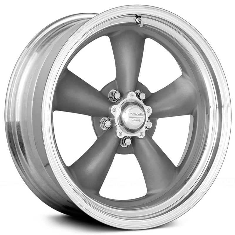 American Racing Vintage VN215 Classic Torq Thrust II 1pc  Wheels Gray w/ Machined Lip
