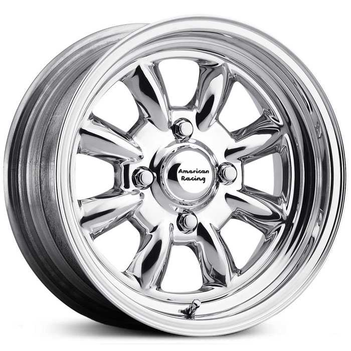 American Racing Vintage VN401 Silver Stone - 2 Piece  Wheels Polished