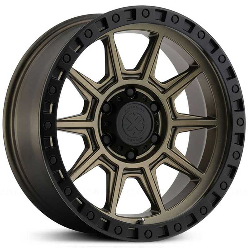 ATX Series AX202  Wheels Bronze w/ Black Lip