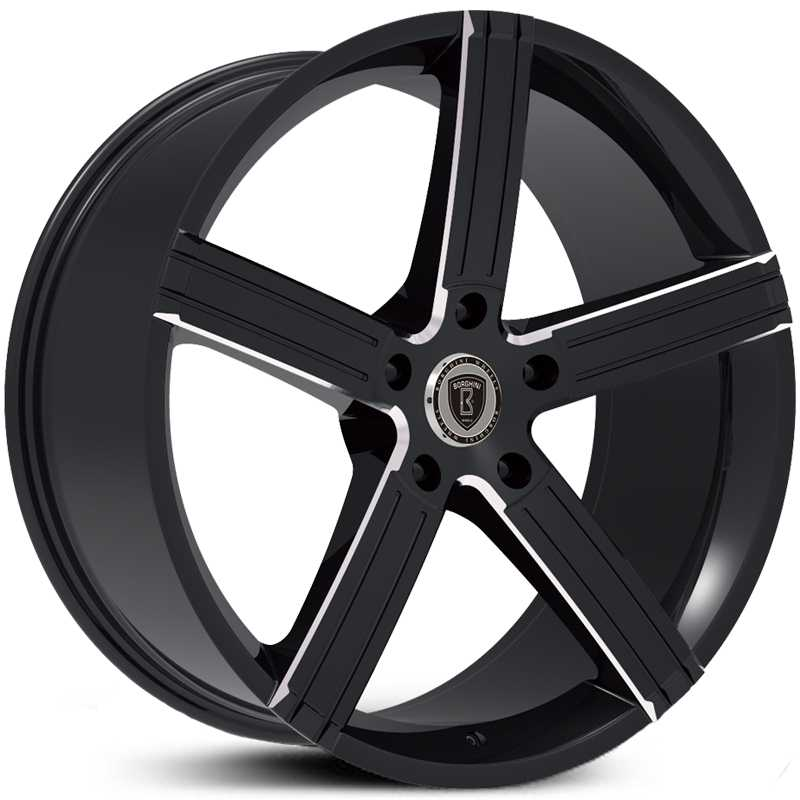 Borghini BW-39A  Wheels Black & Milled Accents