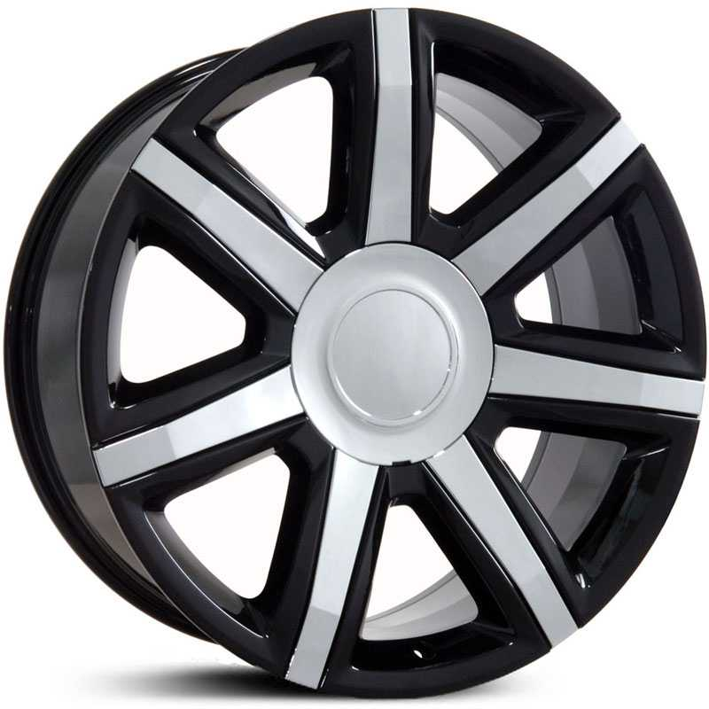 Cadillac Escalade Style (CA87)  Wheels Black w/ Chrome Insert