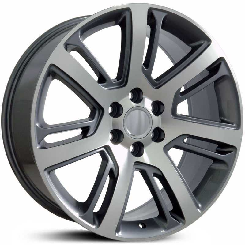 Cadillac Escalade Style (CA88)  Wheels Gunmetal Machined Face