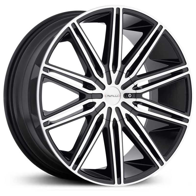 Cavallo CLV-10  Wheels Gloss Black Machined