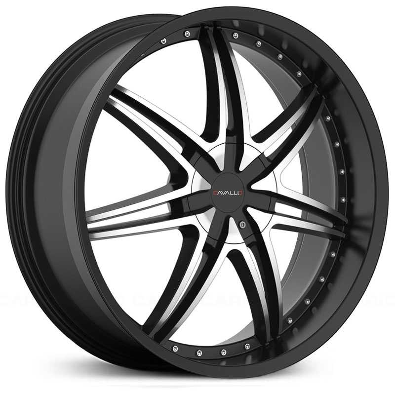Cavallo CLV-11  Wheels Gloss Black Machined