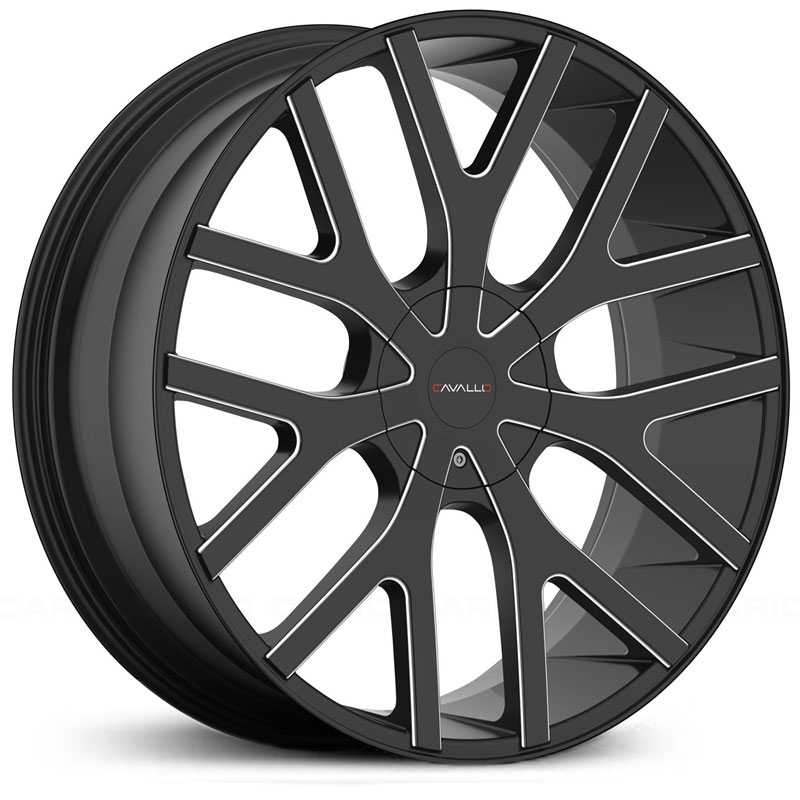 Cavallo CLV-15  Wheels Gloss Black Milled