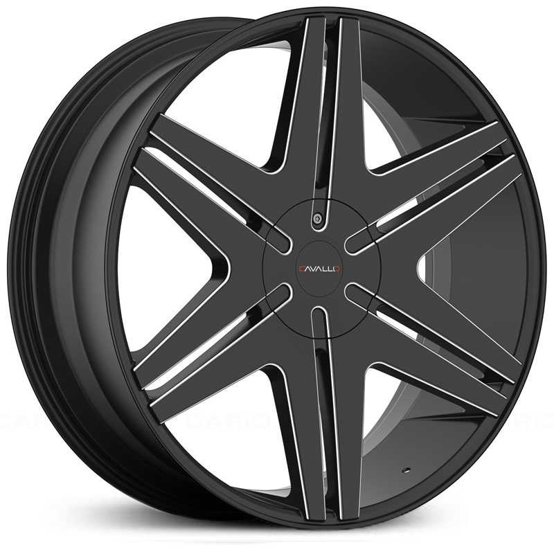 Cavallo CLV-17  Wheels Gloss Black Milled