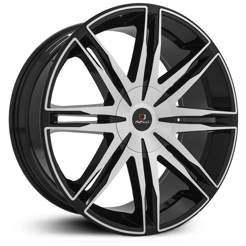 20x8.5 Cavallo CLV-18 Gloss Black Machined MID
