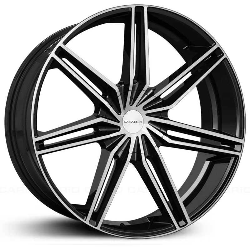 Cavallo CLV-19  Wheels Gloss Black Machined