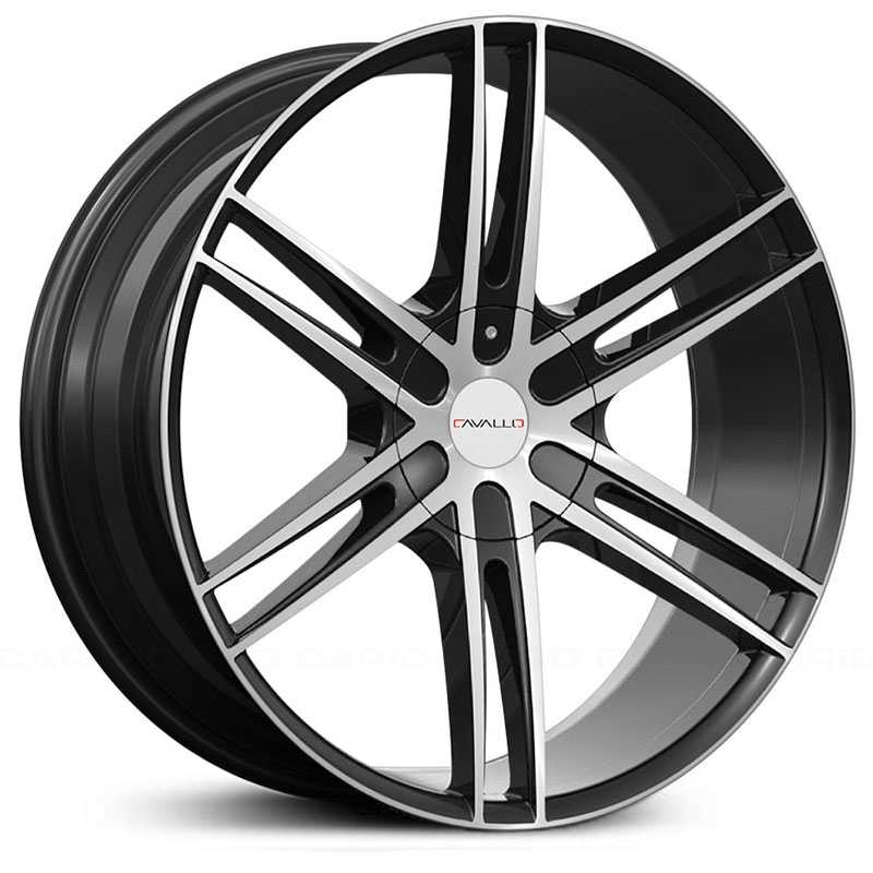 Cavallo CLV-20  Wheels Gloss Black Machined