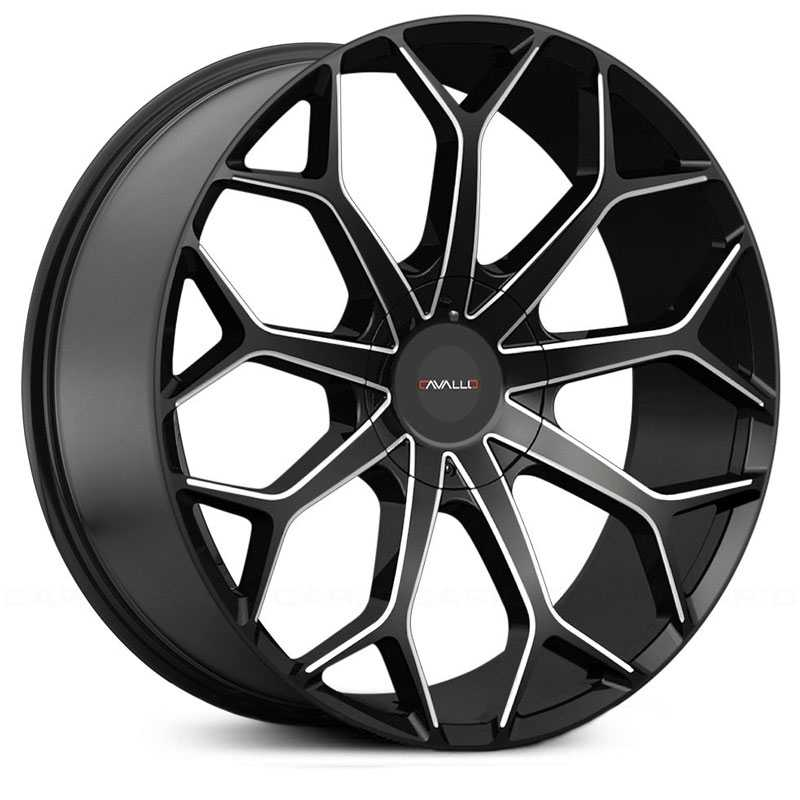 Cavallo CLV-22  Wheels Gloss Black Milled
