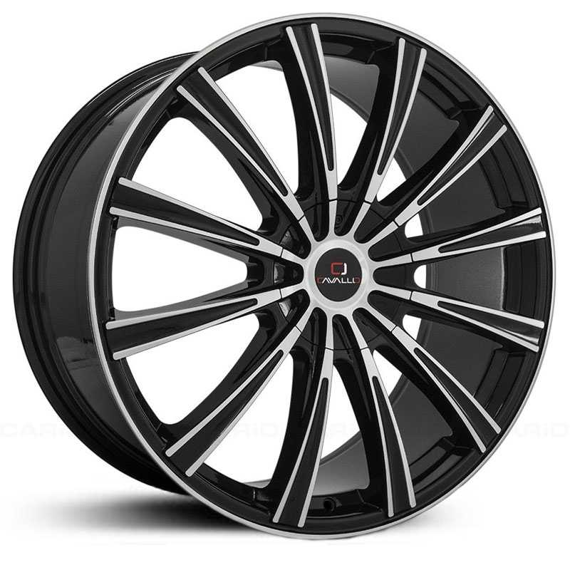 Cavallo CLV-23  Wheels Gloss Black Machined