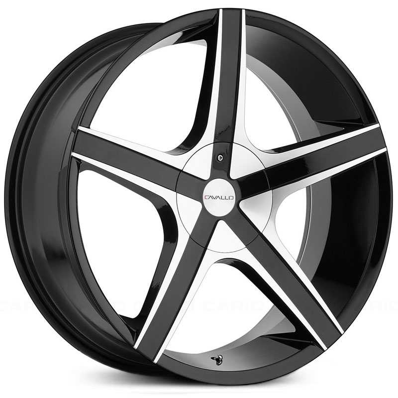 24x9 Cavallo CLV-3 Gloss Black Machined MID