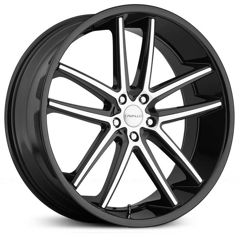 Cavallo CLV-4  Wheels Gloss Black Machined