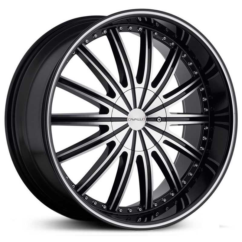 Cavallo CLV-6  Wheels Gloss Black Machined