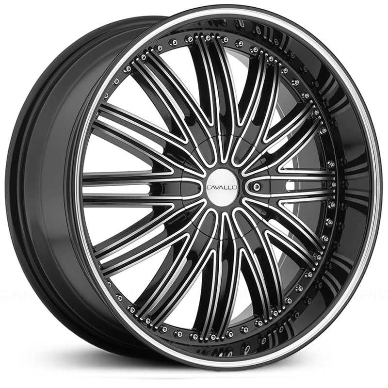 Cavallo CLV-7  Wheels Gloss Black Machined
