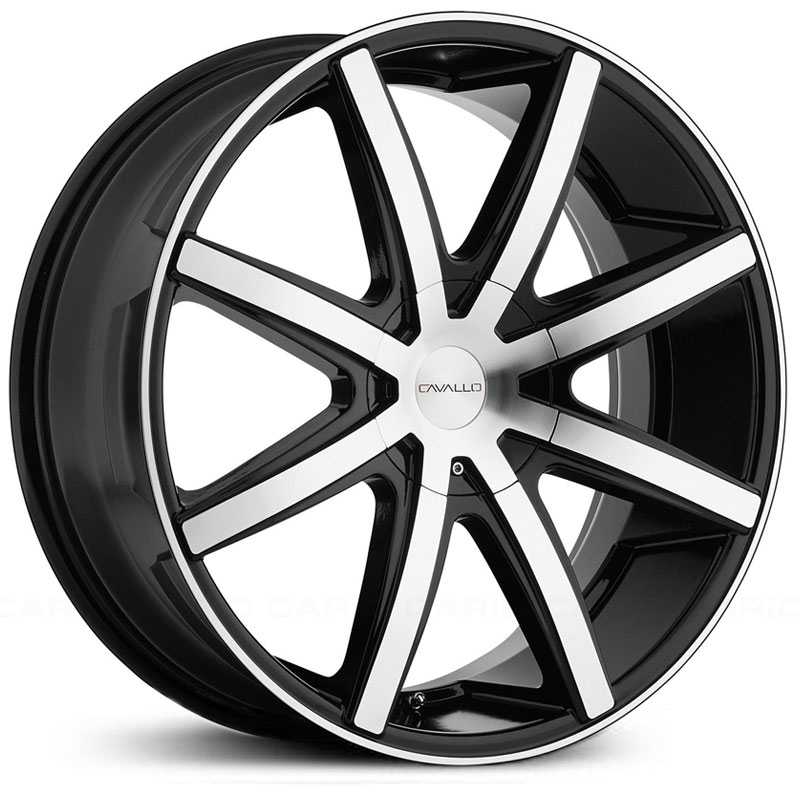 Cavallo CLV-8  Wheels Gloss Black Machined