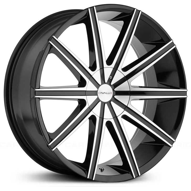 Cavallo CLV-9  Wheels Gloss Black Machined