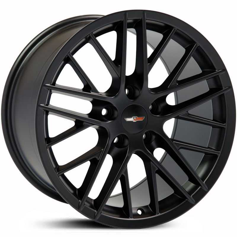 Corvette C6 ZR1 Style (CV08)  Wheels Satin Black