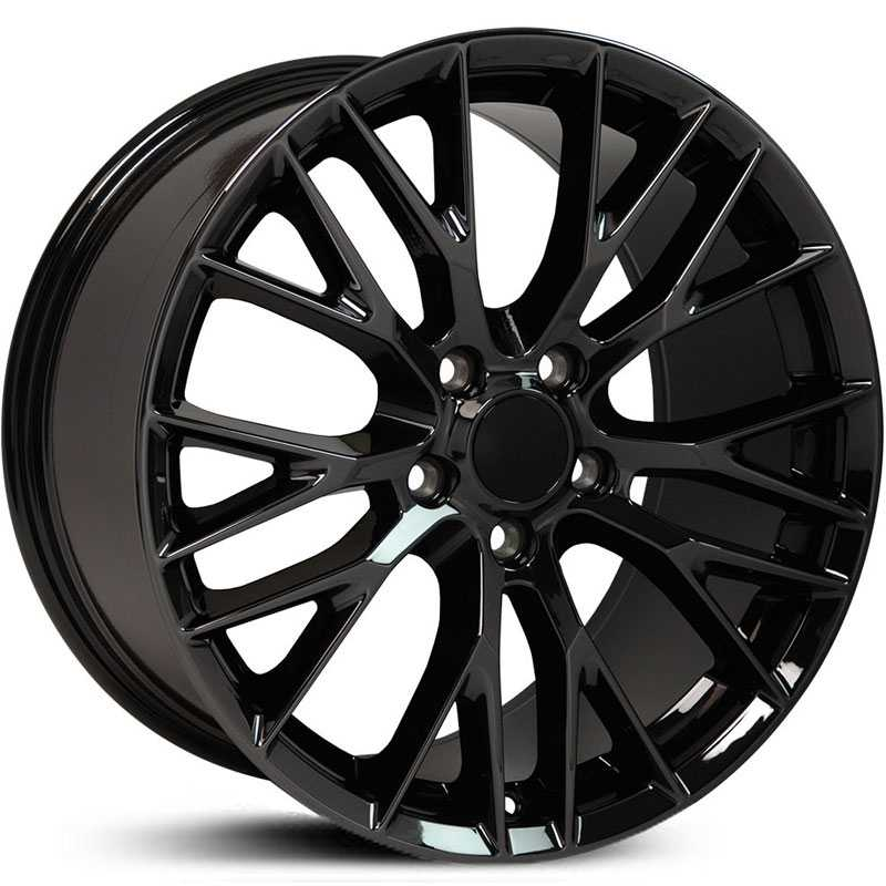 Corvette C7 Style Z06 (CV22)  Wheels Black Chrome