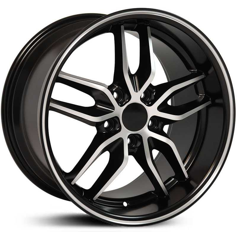 Corvette Stingray (CV18) Deep Dish  Wheels Satin Black Machined