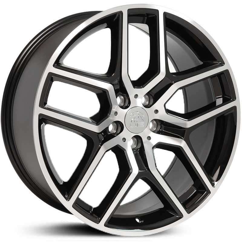 Fits Ford Explorer Style (FR73)  Wheels Black Machined Face