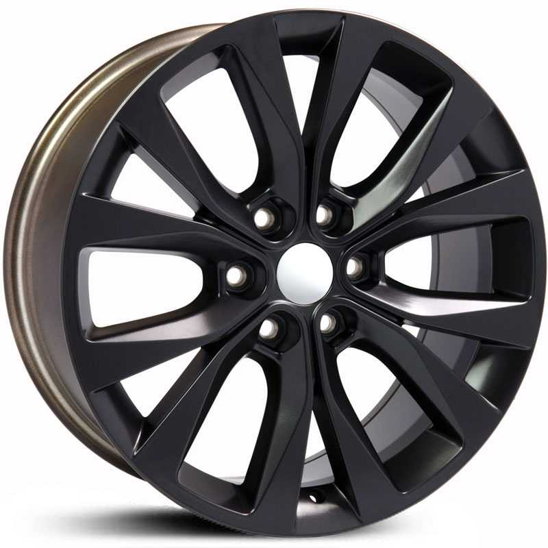 Fits Ford F-150 Style (FR75)  Wheels Matte Black