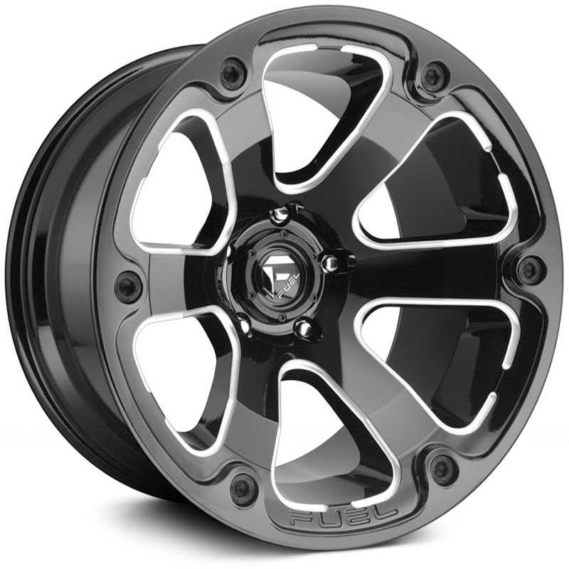 Fuel D562 Beast  Wheels Black Milled