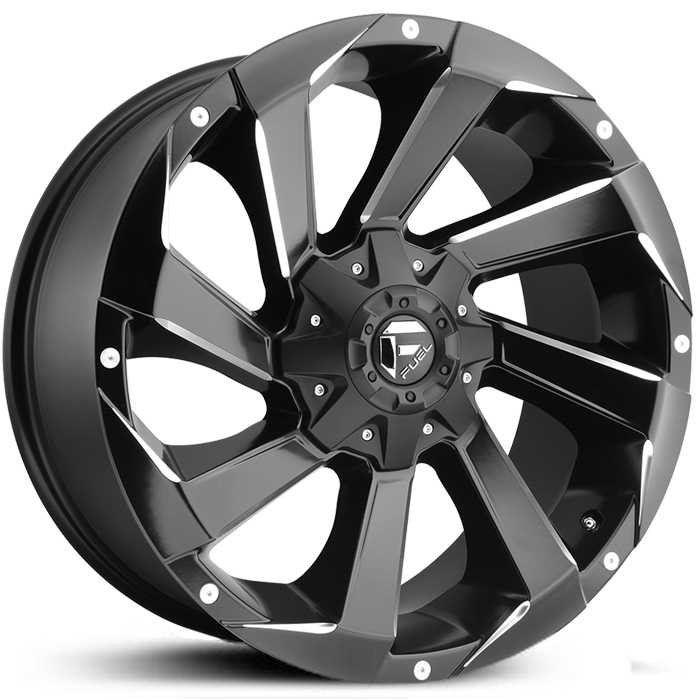 Fuel D592 Razor  Wheels Matte Black Milled