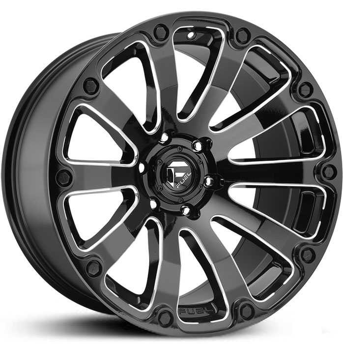 Fuel D598 Diesel  Wheels Black Milled