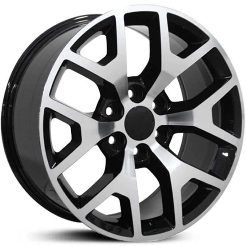 GMC CV92  Wheels Black Machined Face
