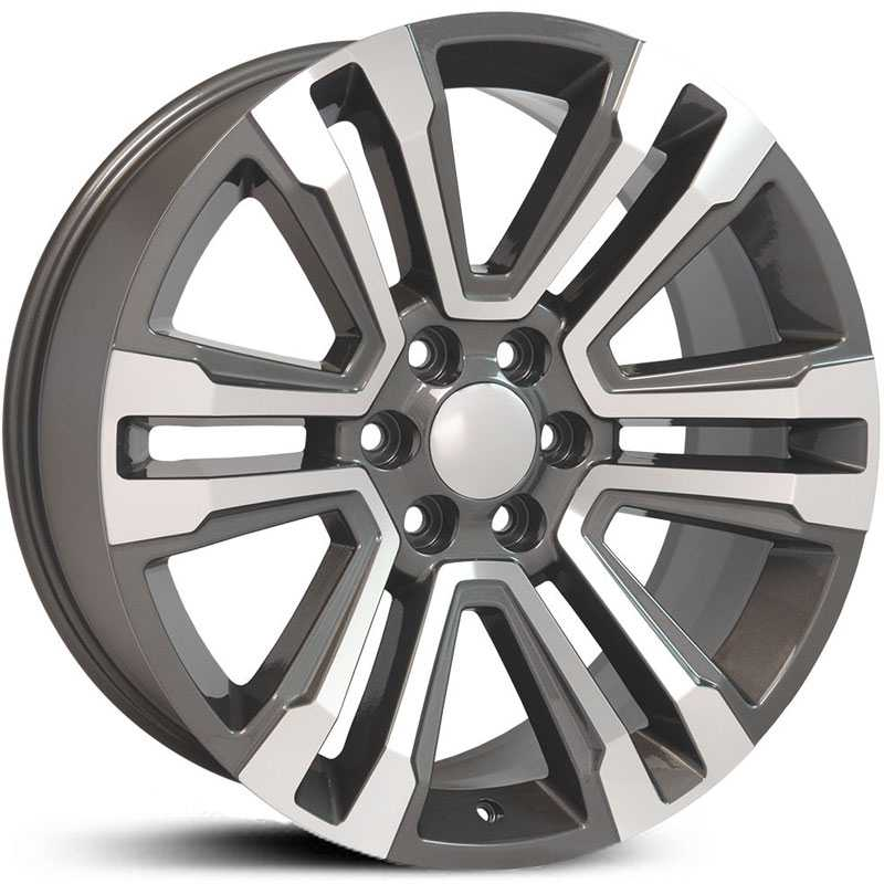 GMC Sierra 1500 Denali Style (CV44)  Wheels Hyper Black Machined Face