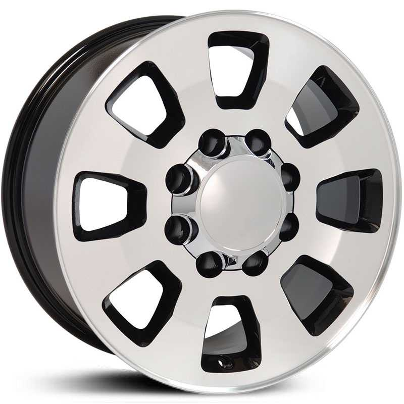 GMC Sierra 2500/3500 Style (CV75)  Wheels Black Machined Face